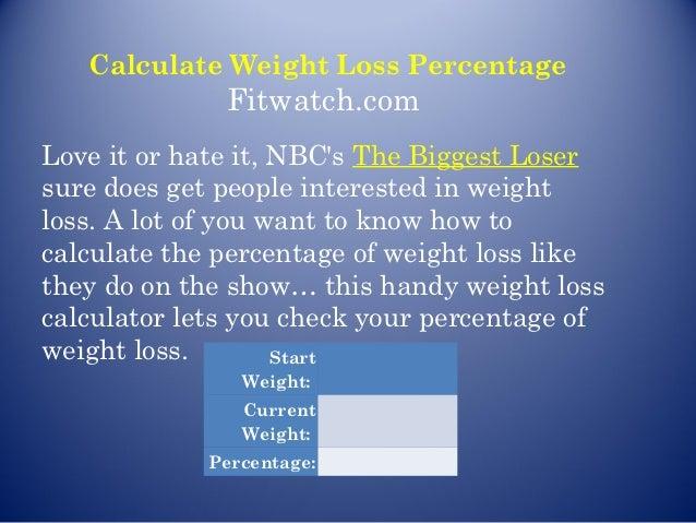 weight loss percentage calculator app