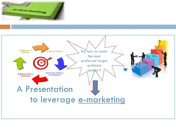 A Presentation to leverage  e-marketing   But how to reach the most preferred target audience quickly ?