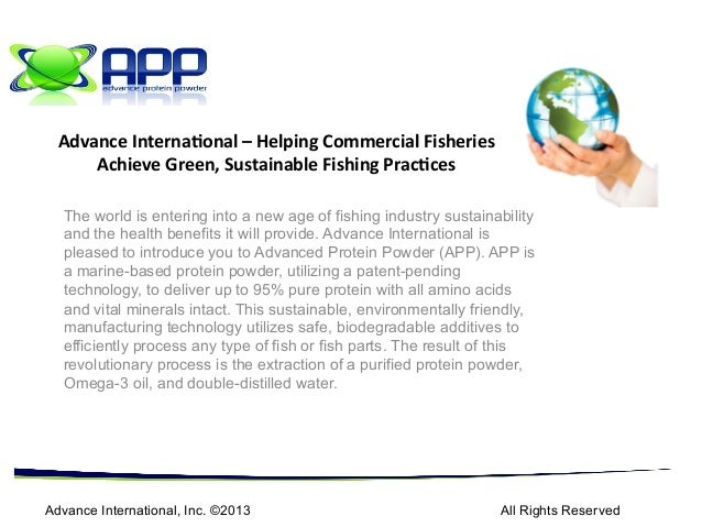 The world is entering into a new age of fishing industry sustainabilityand the health benefits it will provide. Advance In...