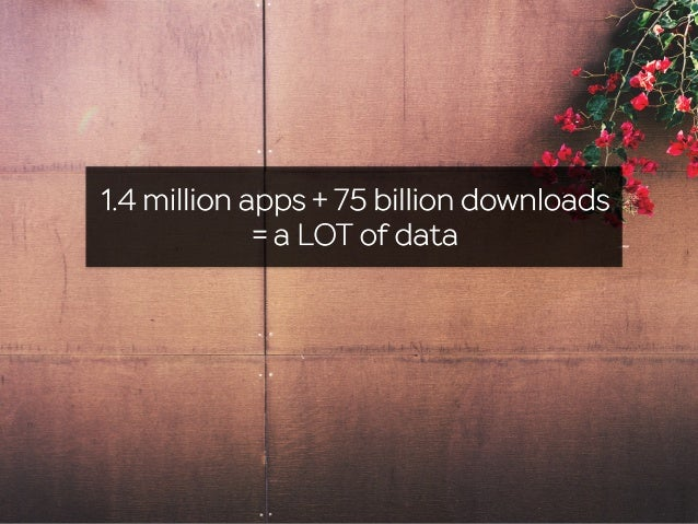 1.4 million apps + 75 billion downloads = a LOT of data