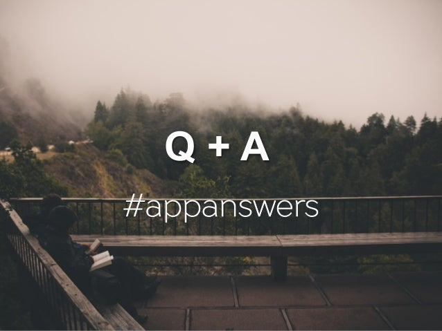 Q + A #appanswers