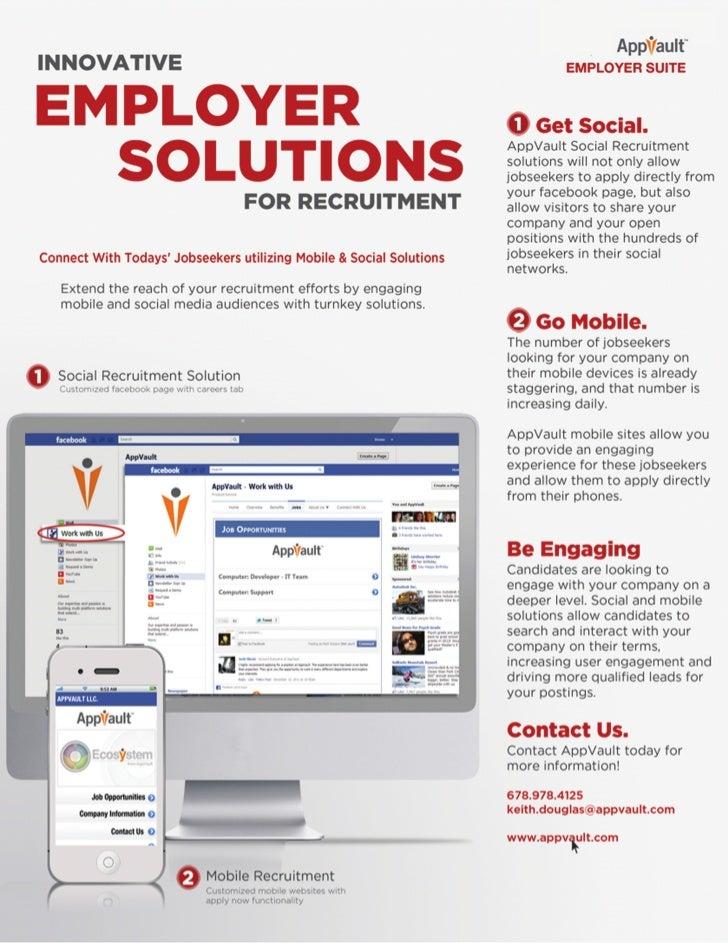 AppVault Employer Mobile & Social Recruitment Solutions