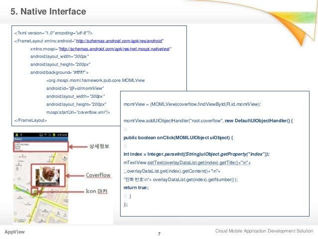 "Cloud Mobile Application Development SolutionAppView5. Native Interface<?xml version=""1.0"" encoding=""utf-8""?><FrameLayout ..."