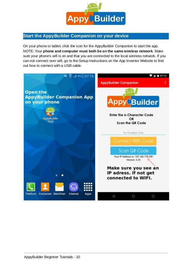 Appy builder beginner tutorial