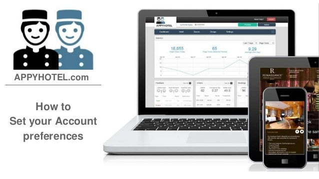 APPYHOTEL.com  How to  Set your Account  preferences