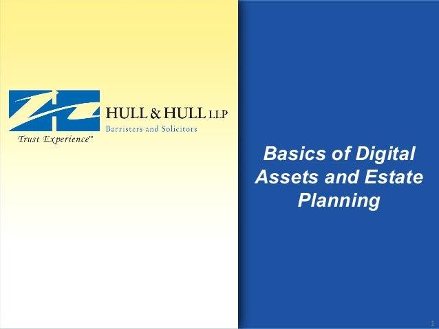 Basics of Digital Assets and Estate Planning 1