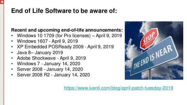 Madison : Windows 7 pro embedded end of life