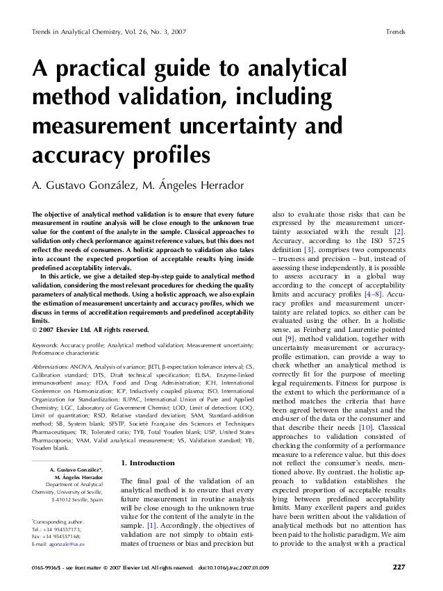 a practical guide to analytical method validation including measurem rh slideshare net Validation From Others Validation Rule