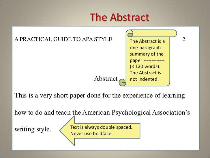 apa short paper format