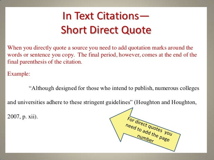 Quote Apa Format Enchanting A Practical Guide To Apa Style
