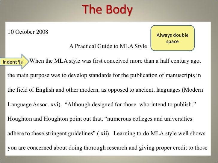 mla essay paragraph spacing