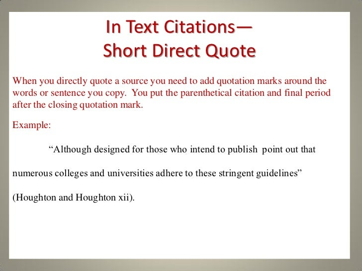 long quotes in a research paper Block quotation examples example 1 this example demonstrates a block quote because some introductory phrases will lead naturally into the block quote.