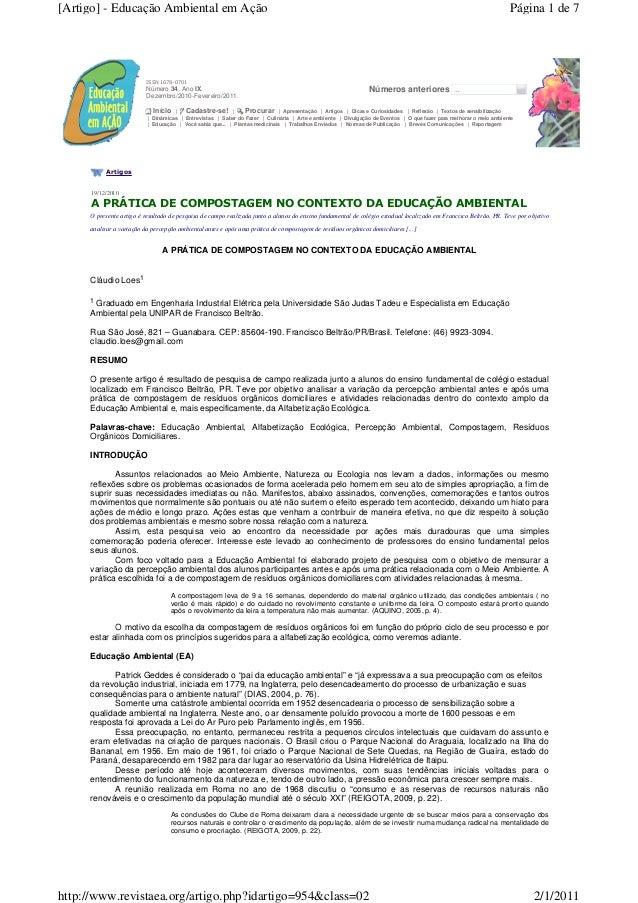 [Artigo] - Educação Ambiental em Ação                                                                                     ...