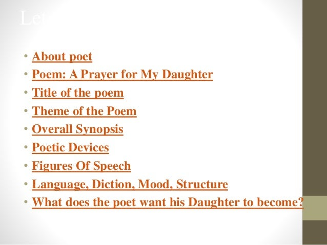 a prayer for my daughter notes