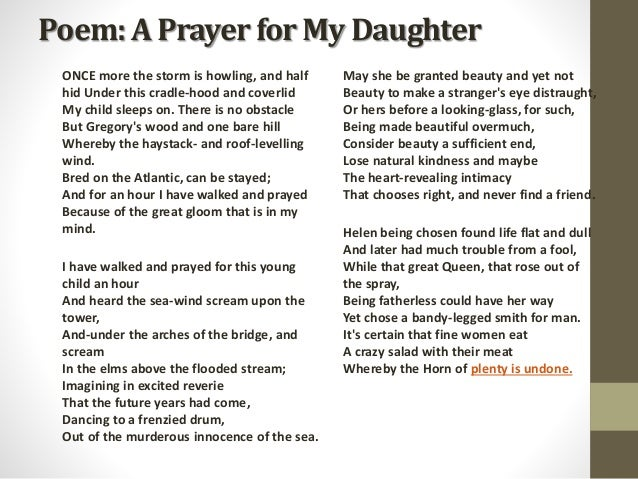 A Prayer for My Daughter Themes