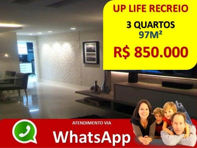 UP LIFE RECREIO 3 QUARTOS 97M² R$ 850.000