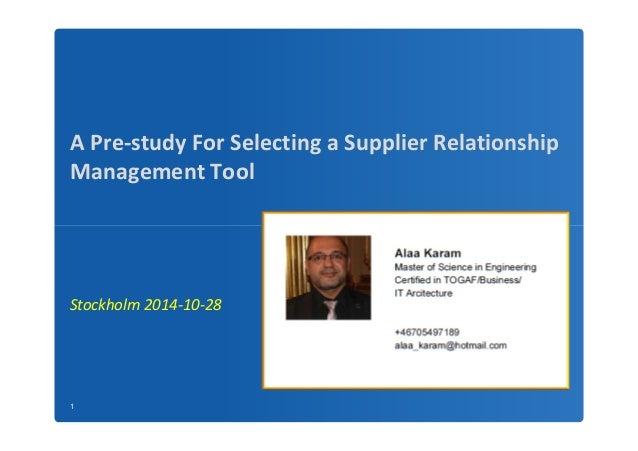 supplier relationship management conference 2014