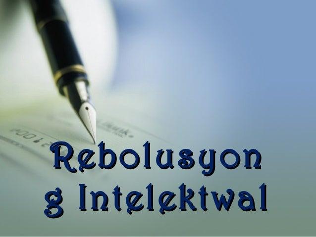 Rebolusyon g Intelektwal