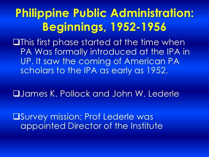 history of public administration in the philippines