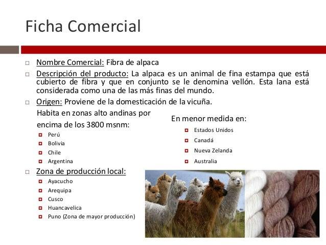 Ficha tecnica de abrigos de alpaca