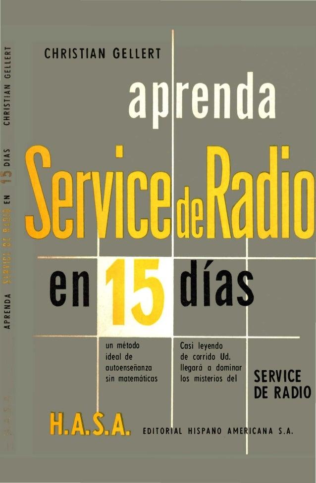 Aprenda service de radio en 15 días christian gellert (1964)