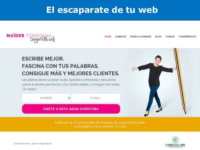 Isabel Romero– @enredaporlared El escaparate de tu web