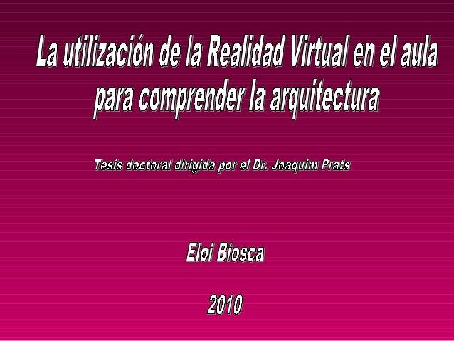 La realidad virtual es una de las tecnologías con mayorpotencial para transformar el aprendizaje.