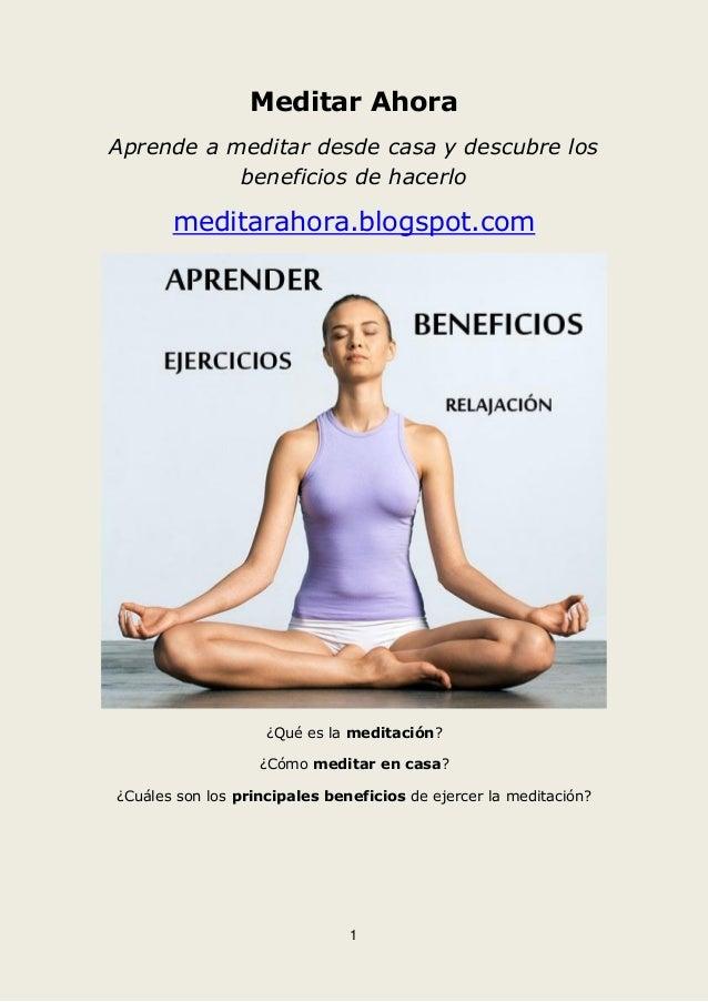 Aprender a meditar ahora - Meditar en casa ...