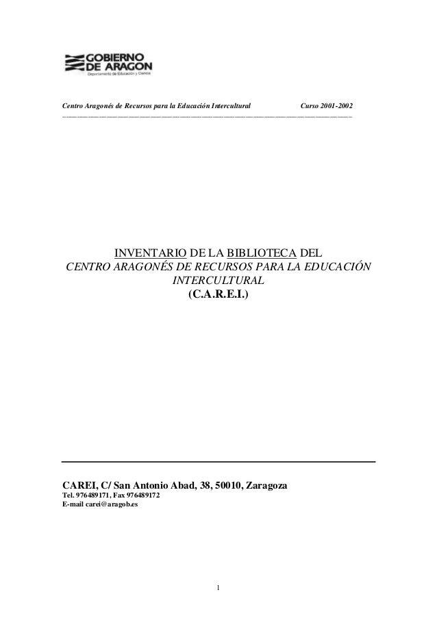 Centro Aragonés de Recursos para la Educación Intercultural Curso 2001-2002 ______________________________________________...