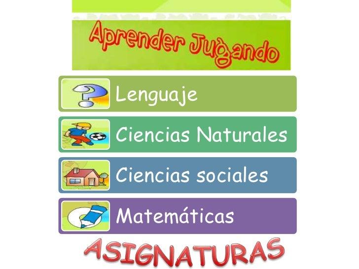 ASIGNATURAS<br />