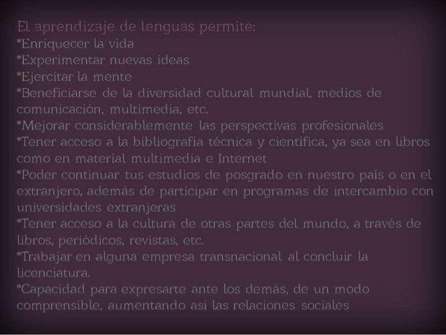 Importancia de dominar uno o más idiomas y herramientas de aprendizaje. Slide 3