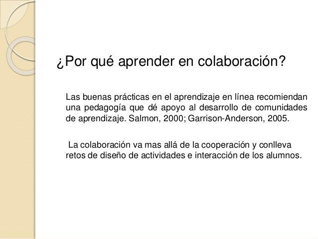Aprender y enseñar en colaboración Slide 2