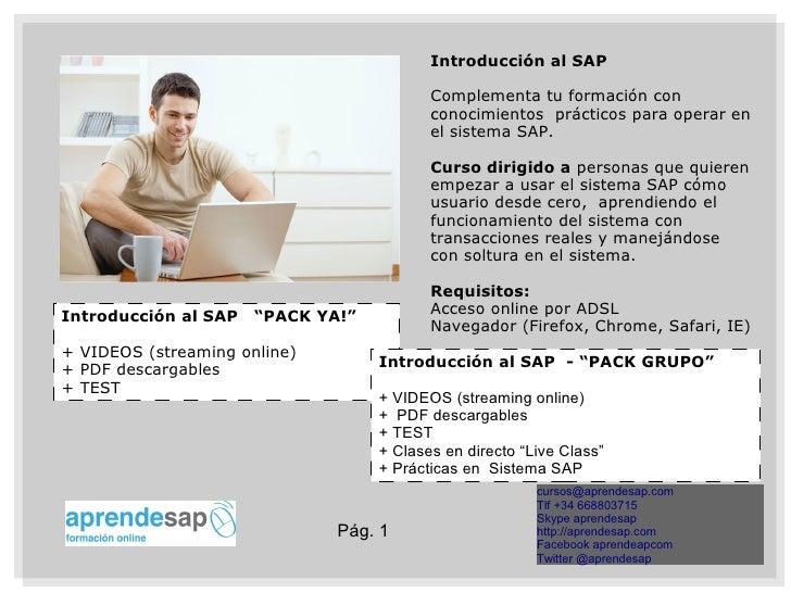Introducción al SAP                                          Complementa tu formación con                                 ...