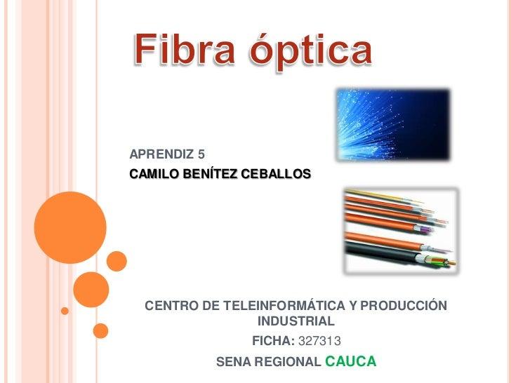 APRENDIZ 5CAMILO BENÍTEZ CEBALLOS  CENTRO DE TELEINFORMÁTICA Y PRODUCCIÓN                INDUSTRIAL                 FICHA:...
