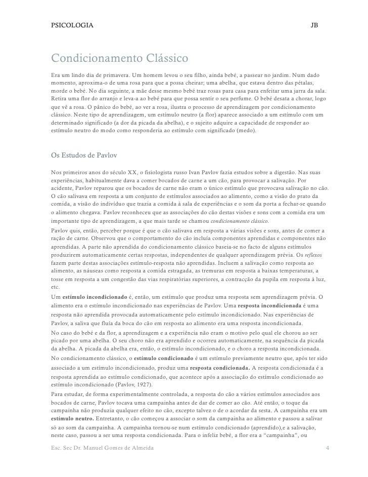 PSICOLOGIA                                                                                            JB     Condicionamen...