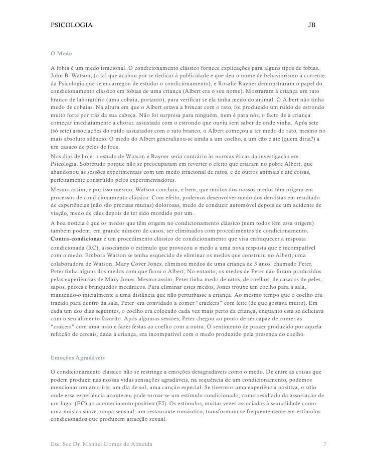 PSICOLOGIA                                                                                           JB    O Medo  A fobia...