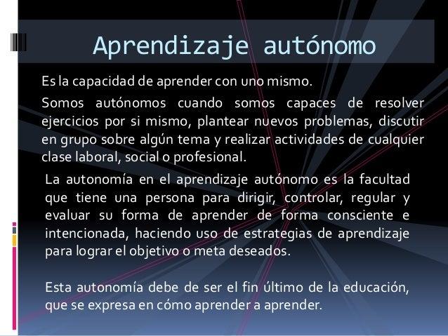 Aprendizaje autónomo presentacion powerpoint 1 Slide 2