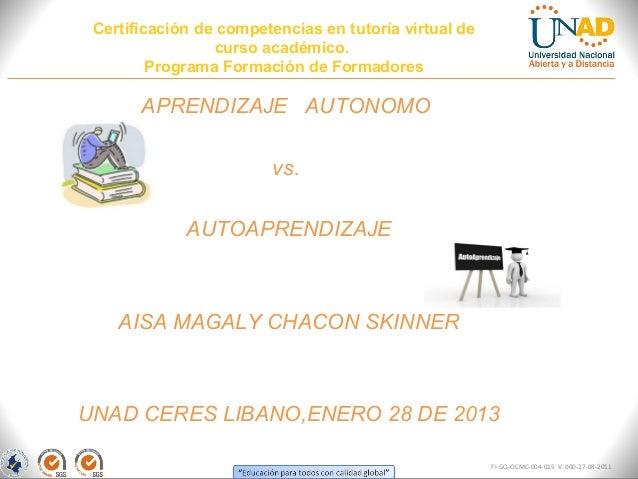 Certificación de competencias en tutoría virtual de                  curso académico.         Programa Formación de Formad...
