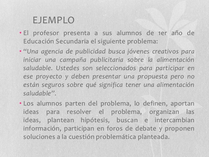 Aprendizaje basado en problemas Slide 3