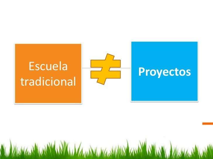 Escuela     Proyectostradicional