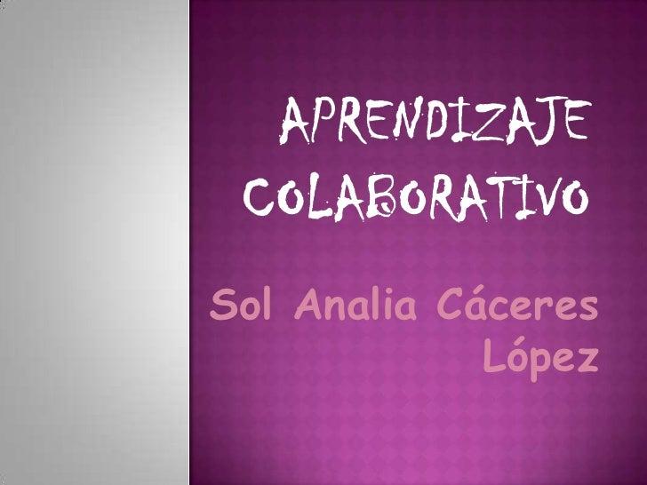 Sol Analia Cáceres             López