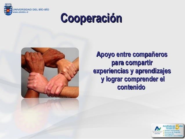 Cooperación                                                    Apoyo entre compañeros                                     ...