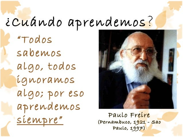 Resultado de imagen de Freire Aprendizaje cooperativo
