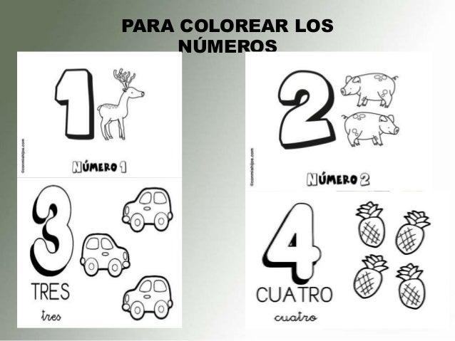 Dibujos Para Pintar Numeros Del 1 Al 10 Aprenda Números De 1 A 10