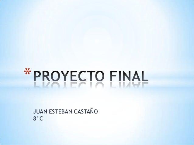 *    JUAN ESTEBAN CASTAÑO    8°C