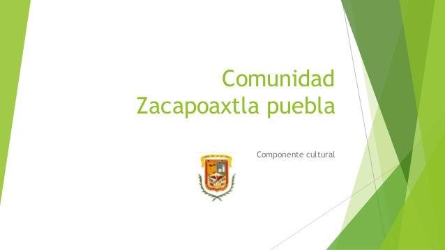 Comunidad  Zacapoaxtla puebla  Componente cultural