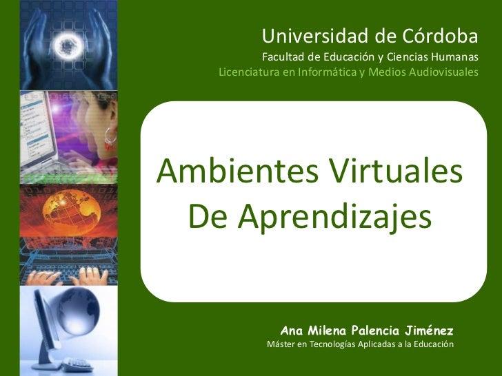 Universidad de Córdoba            Facultad de Educación y Ciencias Humanas   Licenciatura en Informática y Medios Audiovis...