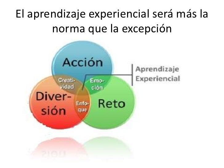 El aprendizaje experiencial será más la norma que la excepción<br />