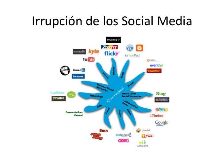 Irrupción de los Social Media<br />