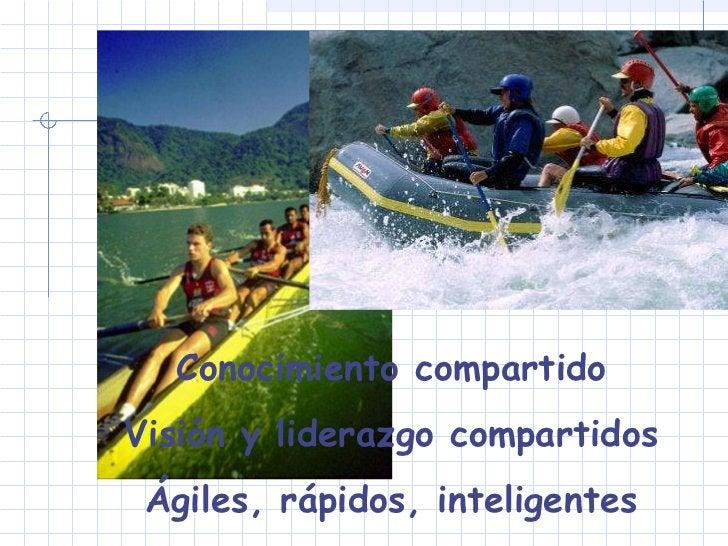 Conocimiento compartido Visión y liderazgo compartidos Ágiles, rápidos, inteligentes